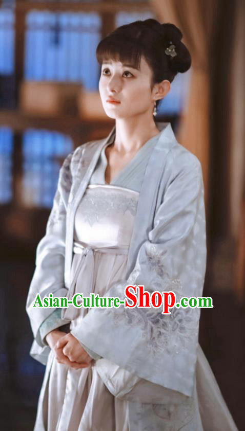 Chinese Drama The Story Of MingLan Ancient Song Dynasty Young Lady Embroidered Historical Costume for Rich