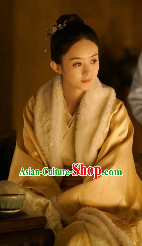 The Story Of MingLan Chinese Song Dynasty Marquise Historical Costume Ancient Nobility Lady Embroidered Hanfu Dress for Women