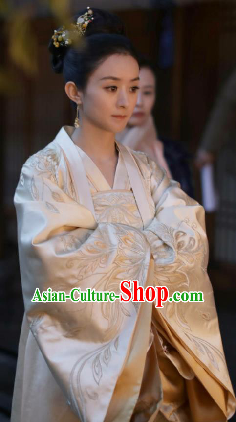 Drama The Story Of MingLan Chinese Ancient Song Dynasty Nobility Dowager Embroidered Historical Costume for Women