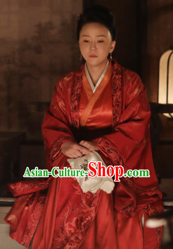 Chinese Ancient Drama The Story Of MingLan Song Dynasty Marquise Dowager Embroidered Historical Costume for Women