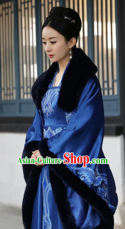 The Story Of MingLan Chinese Ancient Drama Song Dynasty Nobility Madame Embroidered Costume for Rich Women