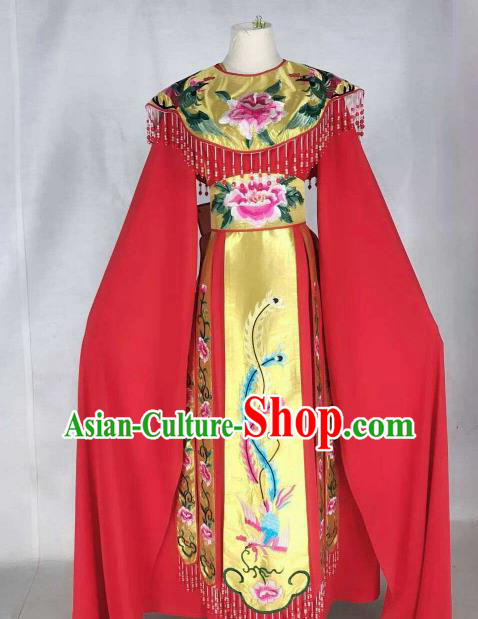 Chinese Traditional Beijing Opera Actress Red Dress Ancient Princess Costume for Women