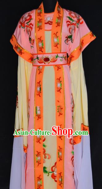 Chinese Traditional Beijing Opera Niche Embroidered Pink Robe Peking Opera Scholar Costume for Men