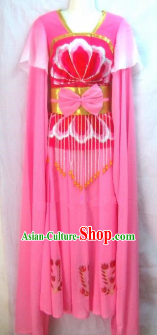 Chinese Traditional Beijing Opera Peri Rosy Dress Ancient Court Maid Embroidered Costume for Women