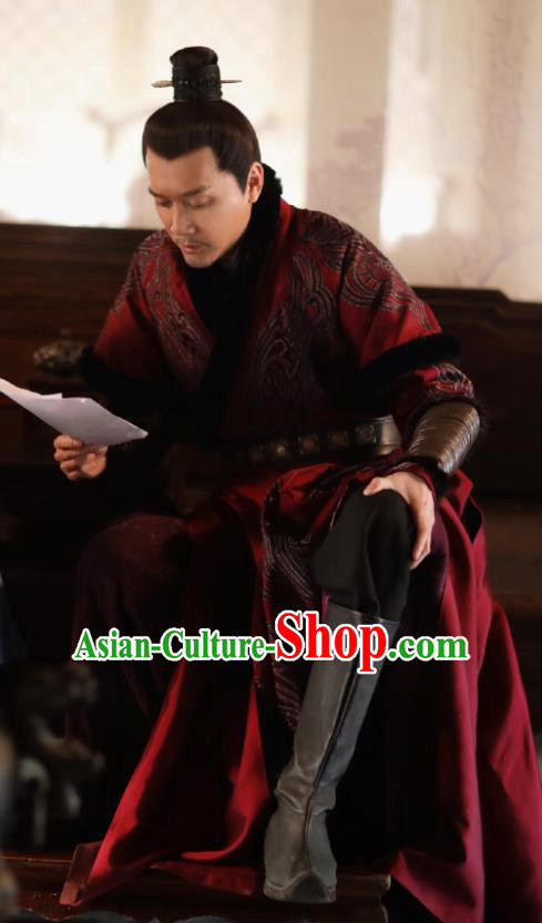 Drama The Story Of MingLan Chinese Song Dynasty Historical Costume Ancient Nobility Childe Embroidered Clothing for Men