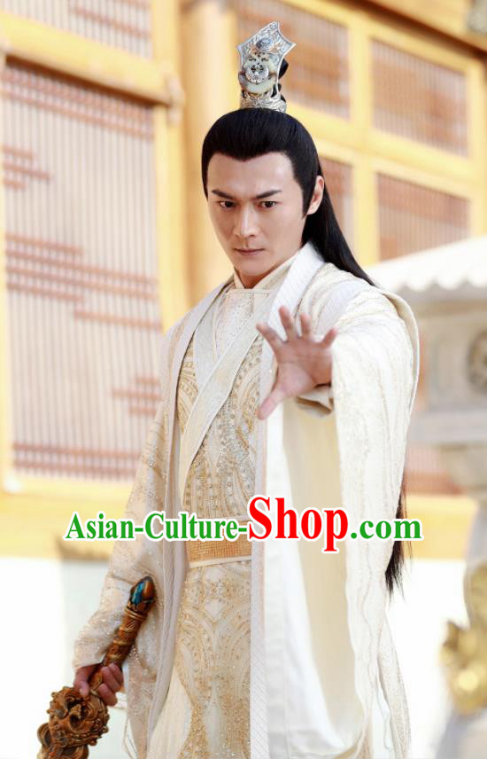 Drama Zhao Yao Chinese Ancient Prince Nobility Childe Swordsman Embroidered Replica Costume for Men