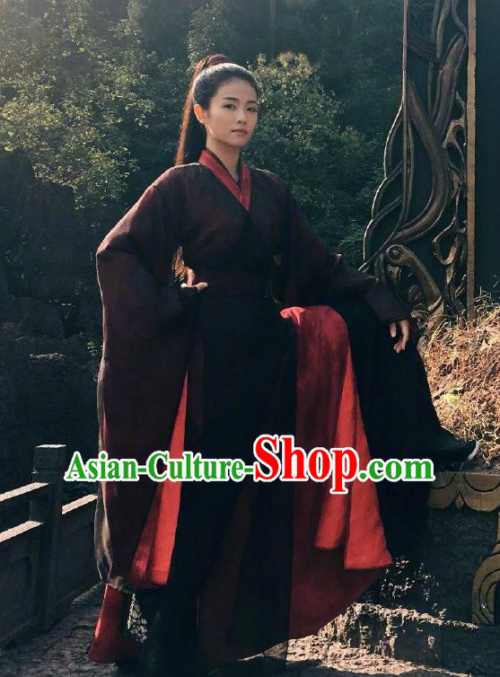 Chinese Drama Zhao Yao Ancient Taoist Nun Swordswoman Female Knight Costume for Women