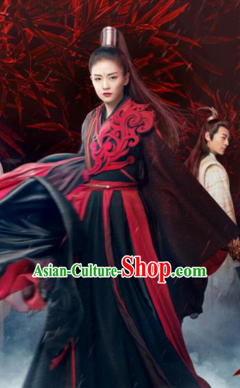Chinese Drama Zhao Yao Swordswoman Traditional Costume Ancient Female Castellan Hanfu Dress for Women