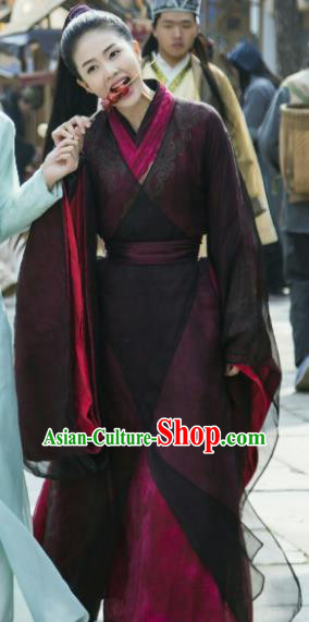 Chinese Drama Zhao Yao Female Knight Traditional Costume Ancient Swordswoman Hanfu Dress for Women