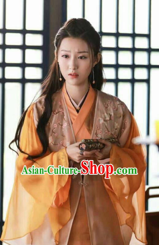 Chinese Ancient Palace Princess Hanfu Dress Drama Zhao Yao Swordswoman Traditional Embroidered Costume for Women