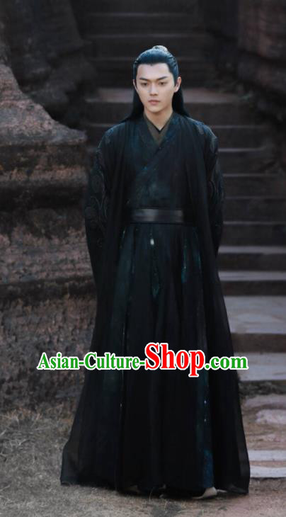 Chinese Ancient Swordsman Faction Master Drama Zhao Yao Knight Replica Costume for Men