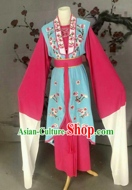 Chinese Traditional Beijing Opera Rich Lady Dress Ancient Peri Blue Costume for Women