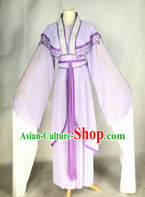 Chinese Traditional Beijing Opera Actress Purple Dress Ancient Nobility Lady Costume for Women