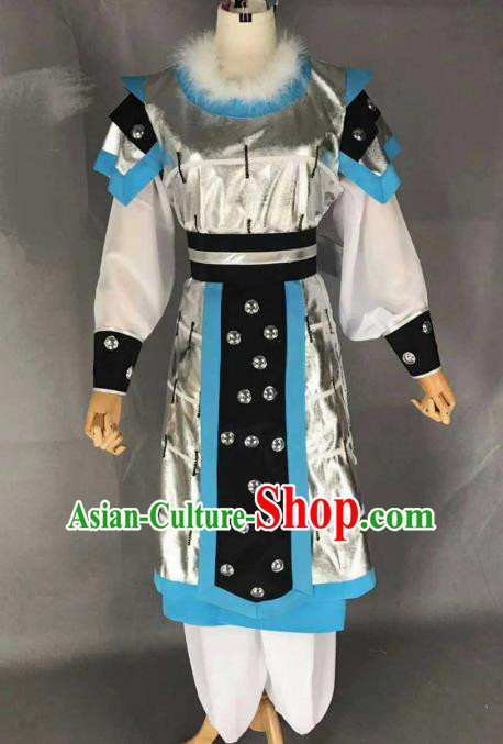 Chinese Traditional Beijing Opera Takefu Clothing Ancient Warrior Embroidered Costume for Men