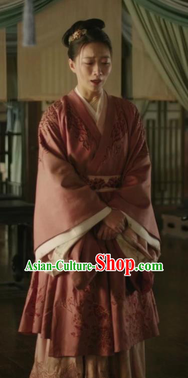 Traditional Chinese Ancient Song Dynasty Nobility Lady Embroidered Dress Drama The Story Of MingLan Replica Costume for Women