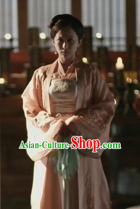 Traditional Chinese Ancient Young Mistress Embroidered Dress Drama The Story Of MingLan Nobility Lady Replica Costume for Women