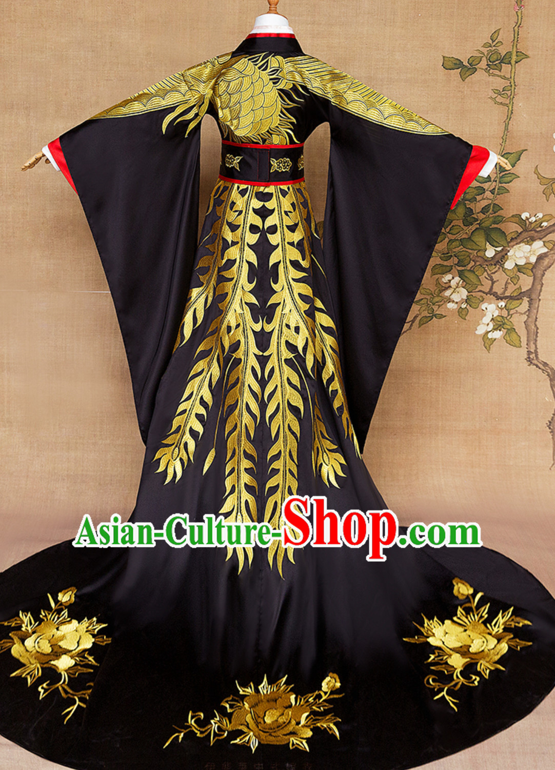 Ancient Chinese Emperor Embroidered Dragon Garment Complete Set