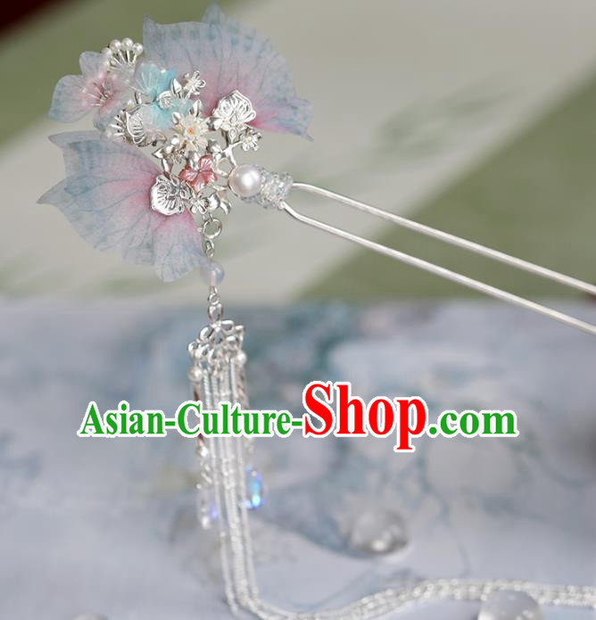 Chinese Traditional Hanfu Hair Accessories Ancient Princess Butterfly Hairpins Tassel Step Shake for Women