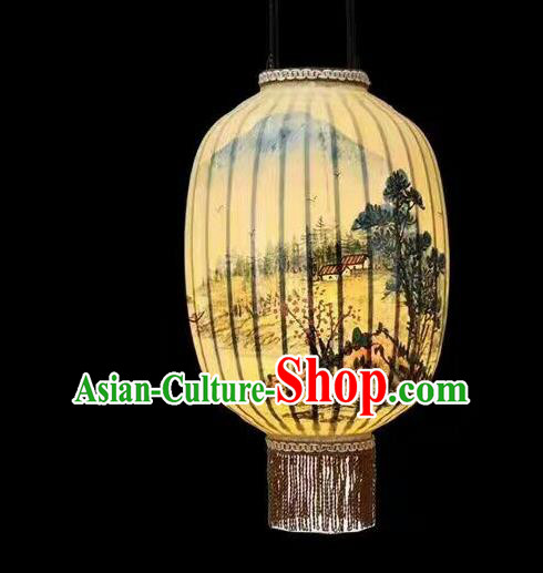 Chinese Traditional Ink Painting Lantern Handmade New Year Palace Lanterns