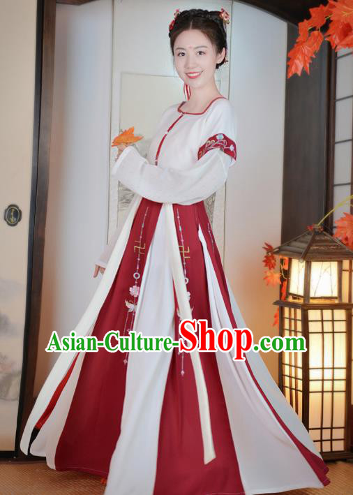 Chinese Ancient Palace Dance Traditional Hanfu Dress Tang Dynasty Aristocratic Lady Historical Costume for Women