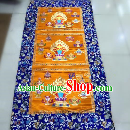 Chinese Traditional Buddhism Golden Brocade Decoration Vajrayana Buddhist Altar Table Cloth