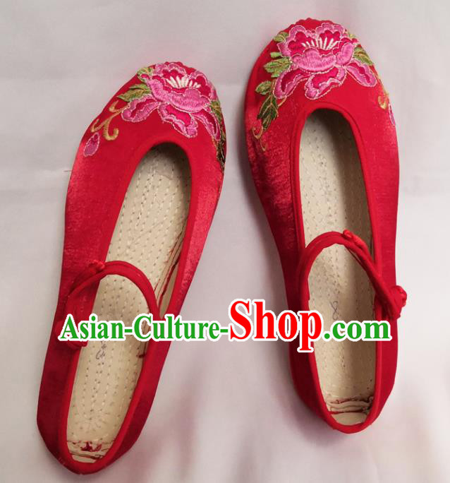 Chinese National Wedding Red Shoes Traditional Cloth Shoes Hanfu Shoes Embroidered Shoes for Women
