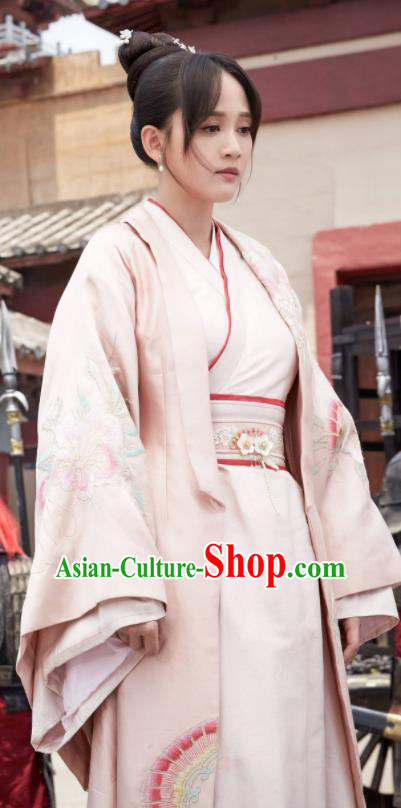 Chinese Ancient Queen Dugu Hanfu Dress Traditional Sui Dynasty Empress Embroidered Historical Costume for Women