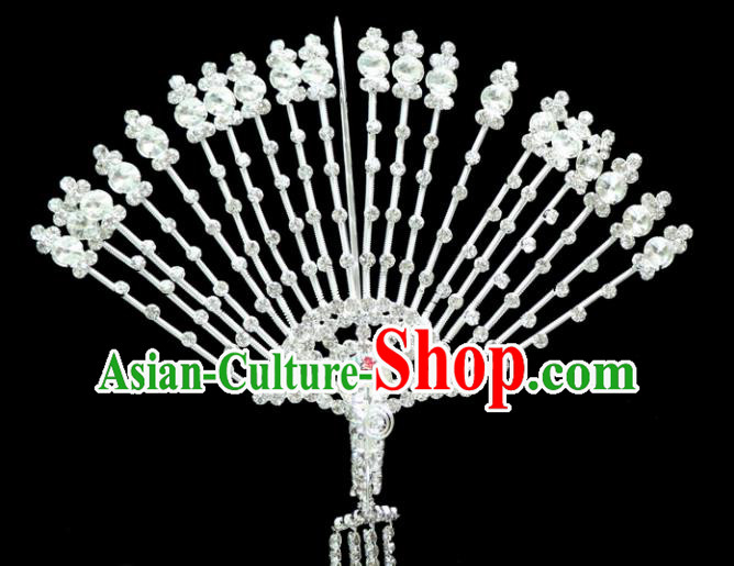 Chinese Ancient Princess Crystal Hairpins Traditional Peking Opera Artiste Headwear for Women