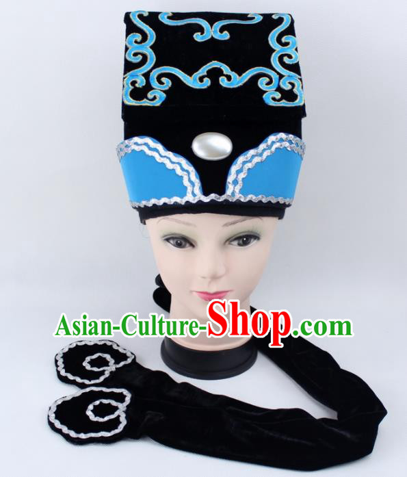 Chinese Ancient Scholar Hat Traditional Peking Opera Niche Headwear for Men