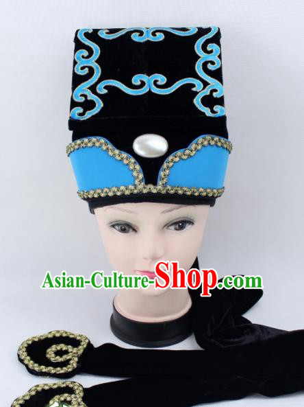 Chinese Ancient Ministry Councillor Hat Traditional Peking Opera Niche Headwear for Men