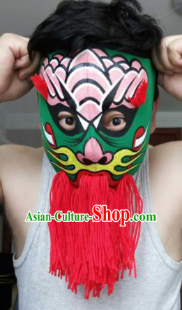 Chinese Traditional Sichuan Opera Prop Face Changing Red Tassel Masks Handmade Painting Facial Makeup