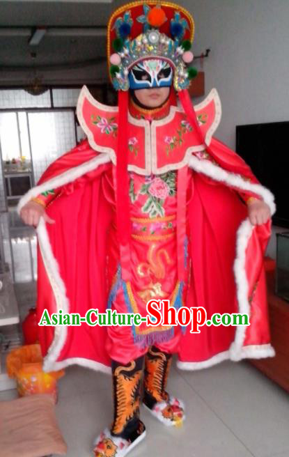 Chinese Beijing Opera Pink Clothing Traditional Sichuan Opera Face Changing Costume for Adults