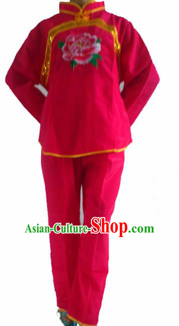 Chinese Traditional Folk Dance Embroidered Costume Yangko Dance Clothing for Women