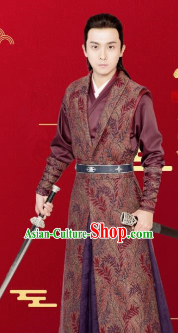 Drama Queen Dugu Chinese Ancient Northern and Southern Dynasties Swordsman Historical Costume for Men