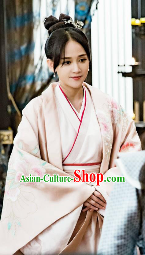 Drama Queen Dugu Chinese Ancient Empress Hanfu Dress Sui Dynasty Historical Costume and Headpiece for Women
