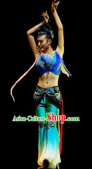 Chinese Traditional Classical Dance Clothing Flying Dance Stage Performance Costume for Women