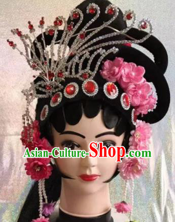 Chinese Traditional Beijing Opera Imperial Consort Wigs and Hairpins Peking Opera Diva Hair Accessories for Women