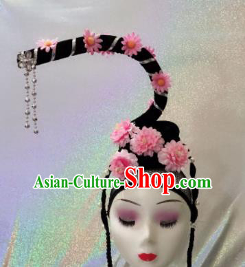 Chinese Traditional Beijing Opera Young Lady Wigs and Hairpins Peking Opera Peri Hair Accessories for Women