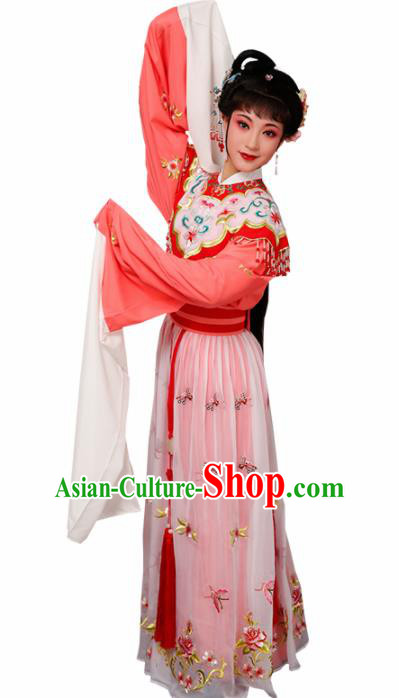 Chinese Traditional Beijing Opera Princess Costume Peking Opera Diva Orange Dress for Women