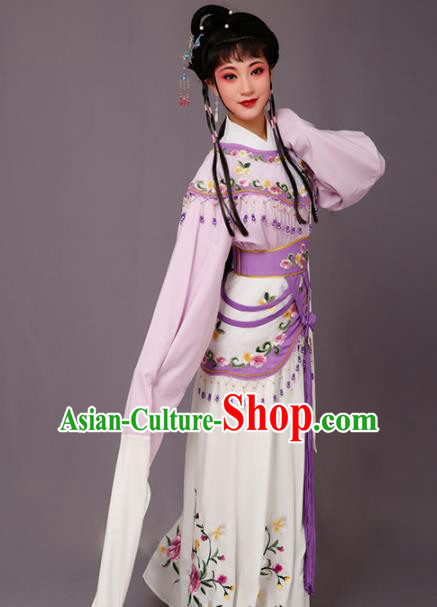 Chinese Traditional Beijing Opera Hua Dan Costume Peking Opera Princess Purple Dress for Women