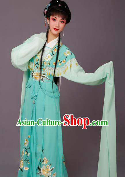 Chinese Traditional Peking Opera Princess Green Dress Beijing Opera Hua Dan Costume for Women