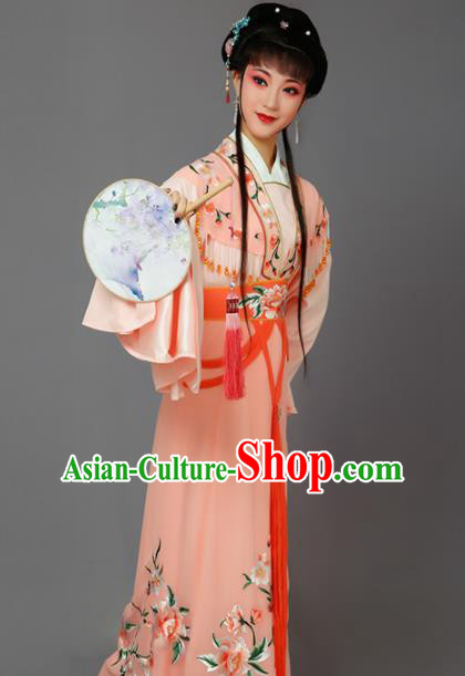 Chinese Traditional Peking Opera Princess Orange Dress Beijing Opera Hua Dan Costume for Women