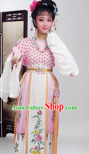 Chinese Traditional Huangmei Opera Princess Pink Dress Beijing Opera Hua Dan Costume for Women