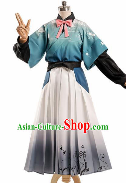 Chinese Traditional Cosplay Dress Ancient Halloween Swordswoman Costume for Women