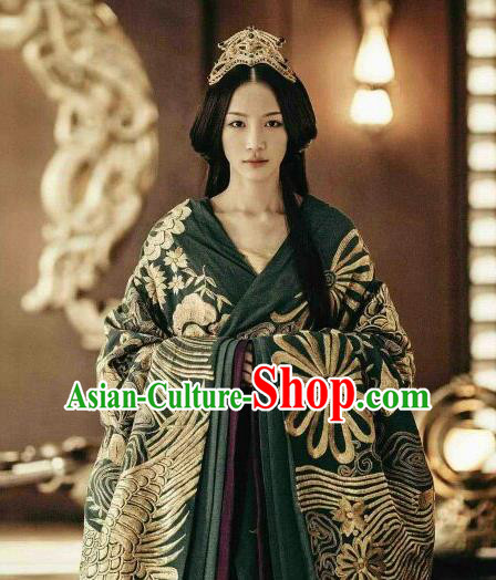 Drama The Lengend of Haolan Ancient Chinese Warring States Period Zhao State Princess Historical Costume and Headpiece for Women