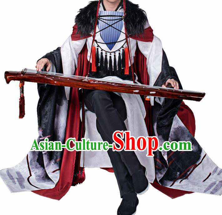 Chinese Traditional Cosplay Swordsman Costume Ancient Knight Hero Hanfu Clothing for Men