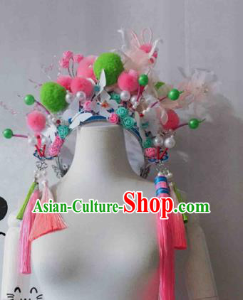 Chinese Traditional Hanfu Princess Hair Accessories Ancient Imperial Consort Tassel Phoenix Coronet Hairpins for Women