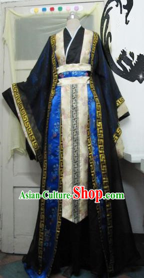 Chinese Traditional Cosplay Knight Prince Costume Ancient Swordsman Hanfu Clothing for Men