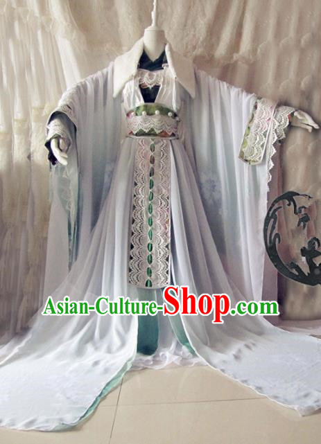 Chinese Traditional Cosplay Imperial Consort Costume Ancient Swordswoman Hanfu Dress for Women