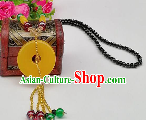 Chinese Traditional Ethnic Jewelry Accessories Beeswax Necklace for Women
